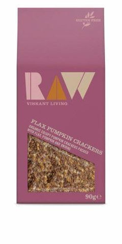 Raw Health - Flax Pumpkin Raw Crackers 90g