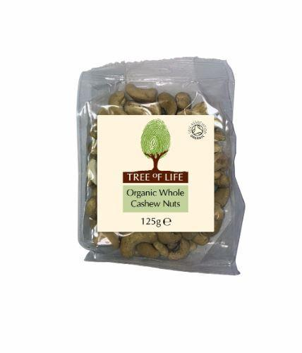 Tree Of Life - Organic Cashew Nuts - Whole 125g