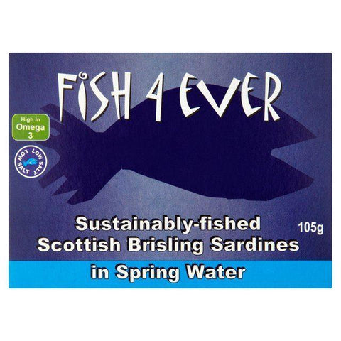 Fish 4 Ever - Scottish Brisling Sardines In Spring Water 105g
