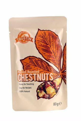 Trustin Foods - Peeled Roasted Chestnuts 80g