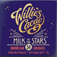 Willies Cacao Ltd - Willies Cacao Milk Of The Stars Surabaya 54% Bar 50g