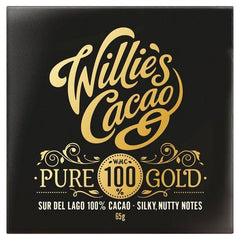 Willies Cacao Ltd - Willies Cacao Pure 100% Gold Sur Del Lago Bar 65g