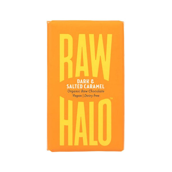 Raw Halo - Dark + Salted Caramel Organic Raw Chocolate 22g