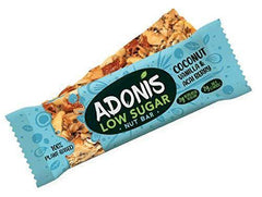 Adonis Smart Foods Ltd - Adonis Natural Low Sugar Vanilla Nut Bar 35g