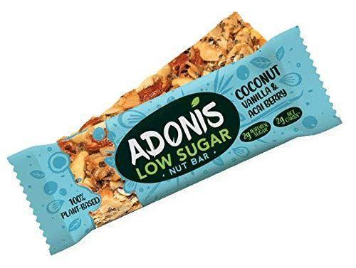Adonis Smart Foods Ltd - Adonis Natural Low Sugar Turmeric Nut Bar 35g
