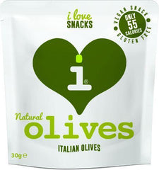 I Love Snacks - Natural Italian Olives - 12 x 30g