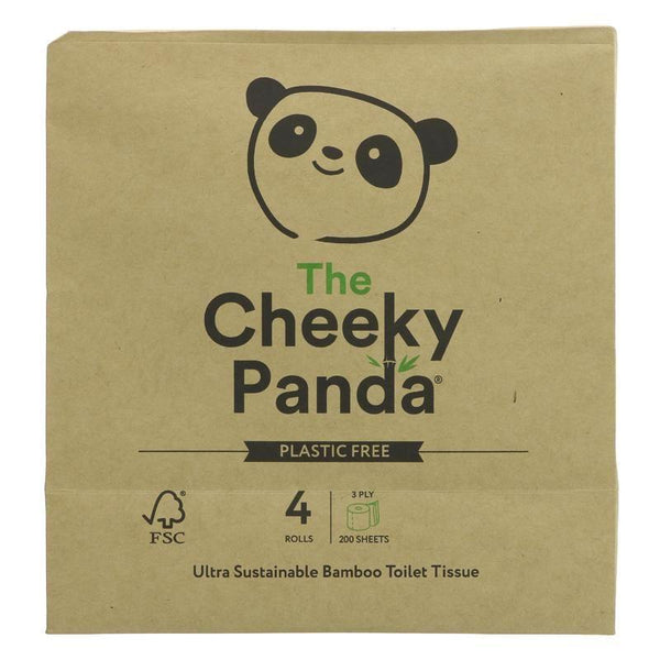 The Cheeky Panda - Toilet Tissue 4 Pack 4 Rolls
