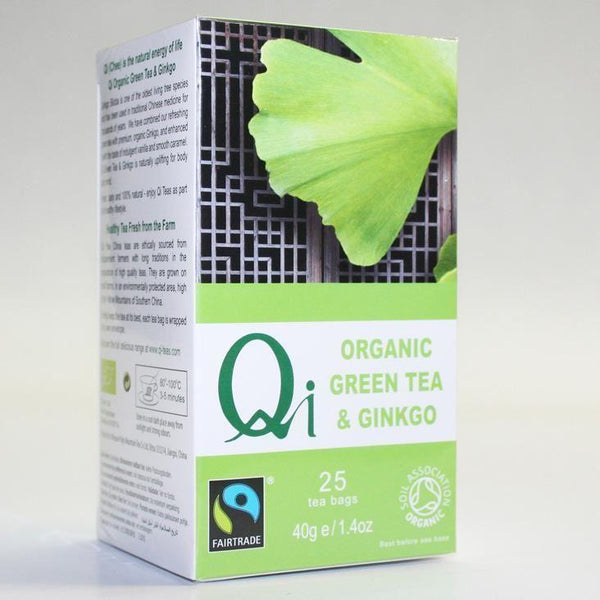 Qi - Fairtrade Ginkgo Green Tea 25bags