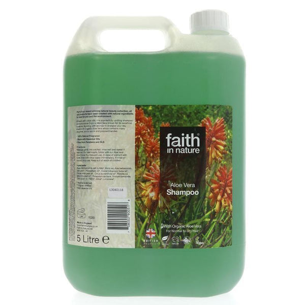 Faith In Nature - Faith Aloe Vera Shampoo - Organic 5ltr