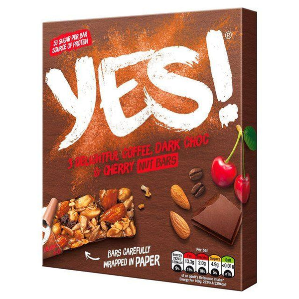Yes - Yes  Coffee Dark Chocolate & Cherry Nut Bar Multipack (35gx3)