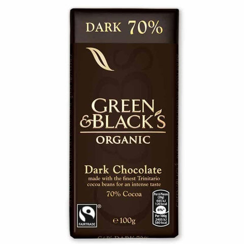 Green & Blacks - 70% Dark Chocolate 90g