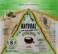 Mountain Bread - Natural Wraps  - Made With Organic Flour 200g