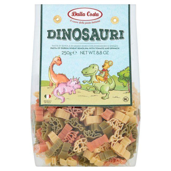Trustin Foods Uk Ltd - Dalla Costa  Dinosaur Tricolour Pasta 250g