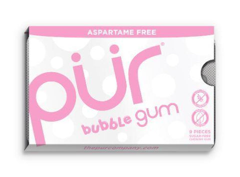 Pur - Bubblegum Gum - Blister 9 Piece