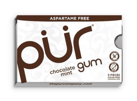 Pur - Chocolate Mint Gum - Blister 9 Piece