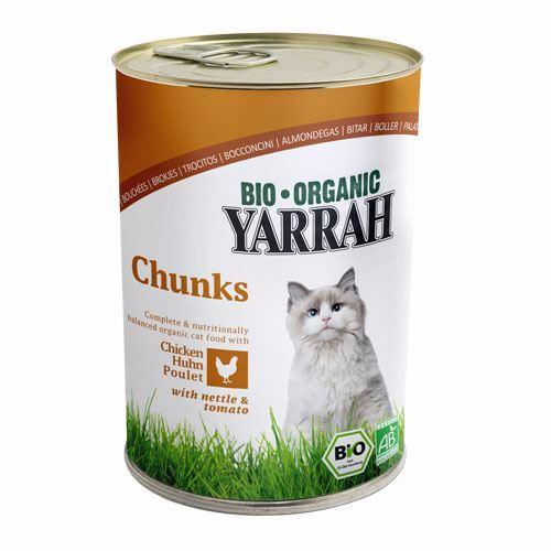 Yarrah - Adult Cat Food - Chicken In Nettle & Tomato Sauce 405g