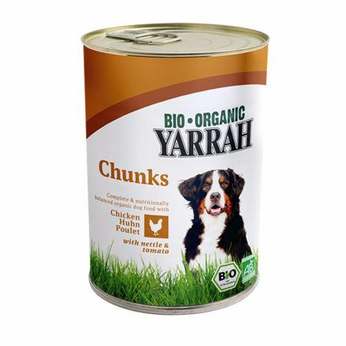 Yarrah - Dog Food - Chicken Chunks With Nettle & Tomato 405g