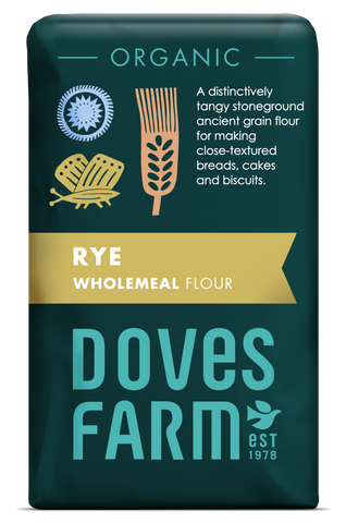 Doves Farm - Organic Wholemeal Rye Flour 1kg - Flour 2 Door