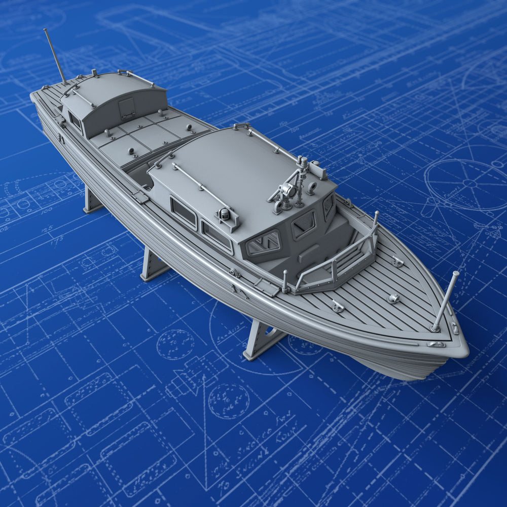 1/128 Royal Navy 35ft Fast Motor Boat