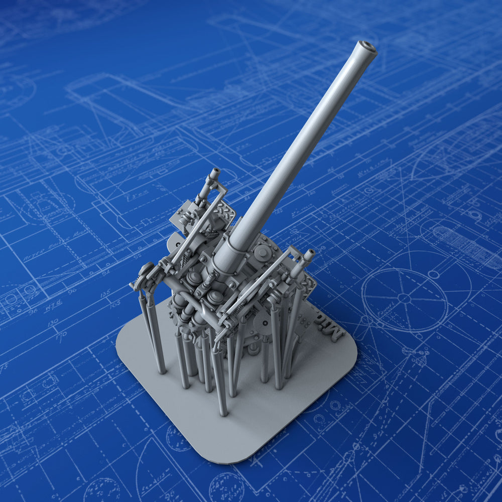 "1/144 Royal Navy 3"" 20cwt MKI Gun (45º Elevation)"