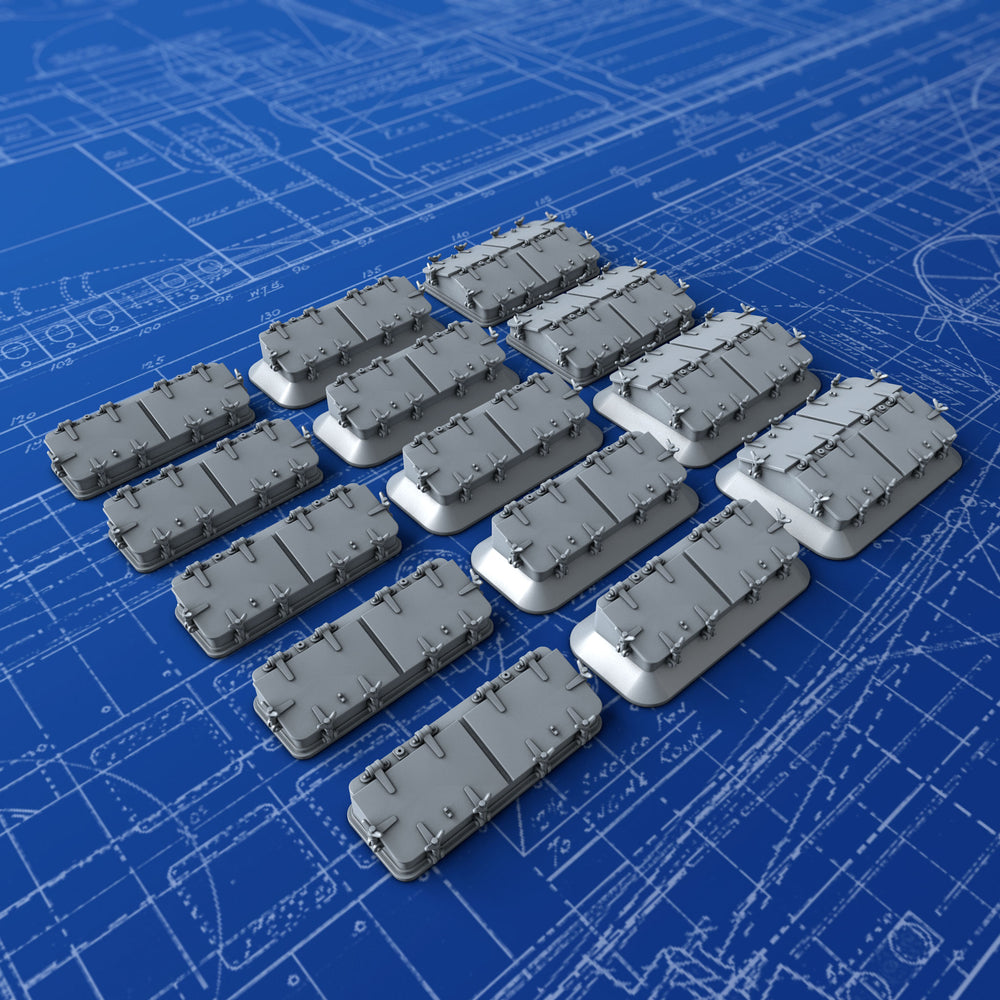 1/144 Royal Navy Watertight Deck Skylight Set x14