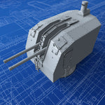 "1/150 French Navy 100mm/45 (3.9"") CAD Model 1937 Gun x1"