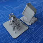 "1/144 Royal Navy 4""/45 BL MKIX Flowers Class Gun (Half Rounded Shield)"