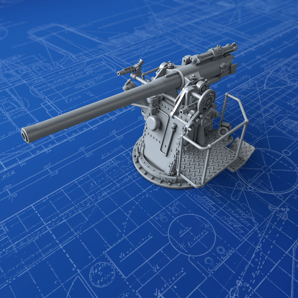 "1/144 Royal Navy 4""/45 (10.2cm) QF MKV HA MKIII Gun"