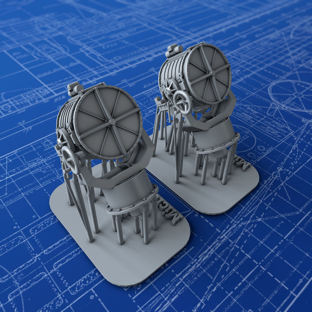 "1/192 Royal Navy 44"" Searchlights x2"