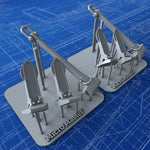 1/200 Royal Navy Wasteney Smith Stockless Anchors 192cwt x2