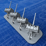 "1/600 Royal Navy 4.7"" MKIX CPMKXVIII Mount x4"