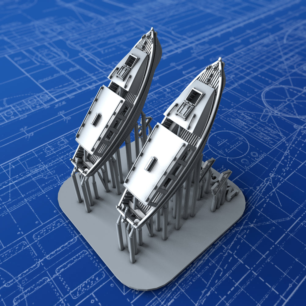 1/600 Royal Navy 25ft Motor Cutters x2