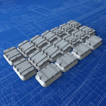 1/72 Royal Navy Deck Hatch Set (with Blast Plates) x18