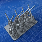 "1/192 Royal Navy 4""/50 (10.2 cm) BL MKVII Guns x8"
