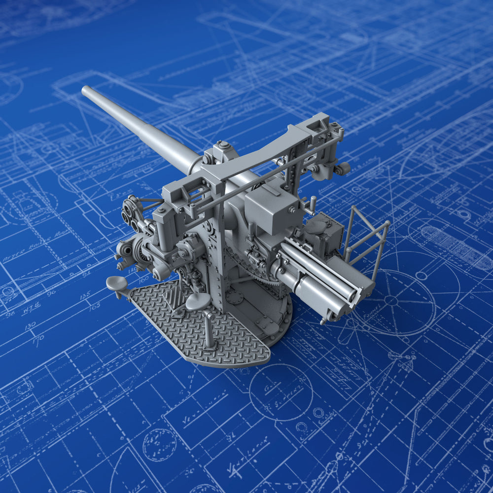 "1/200 Royal Navy 4.7""/40 (12cm) QF MKVIII Gun (Early Version)"