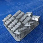 1/200 Royal Navy Watertight Deck Skylight Set x14