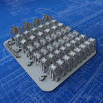 1/400 Royal Navy 20mm Oerlikon Ready Use Lockers x48 (4 Sizes)