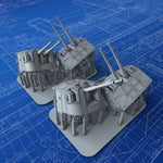 "1/350 Royal Navy 4.7"" MKXXII (XIX Mount) x4 (Look-out Bearings)"