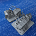"1/350 Royal Navy 4.7"" MKXXII x3 & 4"" MKXVI x1 Guns (Tribal Class – Lookout Bearings)"