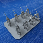 1/350 Royal Navy Hotchkiss 3-pdr MKI & II Guns x8