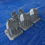 "1/350 Royal Navy 4""/45 (10.2cm) QF MKV HA MKIII Guns x5 (P Class Destroyers)"