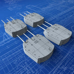 "1/200 Royal Navy 6""/50 (15.2cm) BL MKXXIII (MKXXIII Mount) Guns x4 (Town Class)"