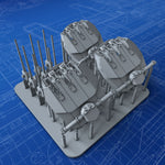 "1/700 French Navy Triple 152mm/55 (6"") Model 1936 Guns x3 (Alsace Class)"
