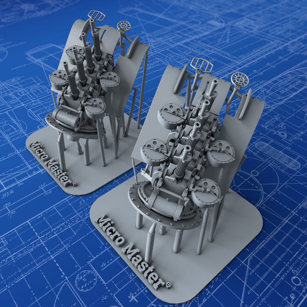 "1/144 Royal Navy Quad Vickers 0.50""/62 (12.7mm) MG MKIII (Shielded)"