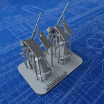 1/144 US Navy 20mm Oerlikon MKI Guns (45º Elevation) x2