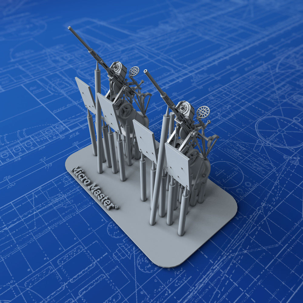 1/144 US Navy 20mm Oerlikon MKI Guns (Square Shield, Not in Use) x2