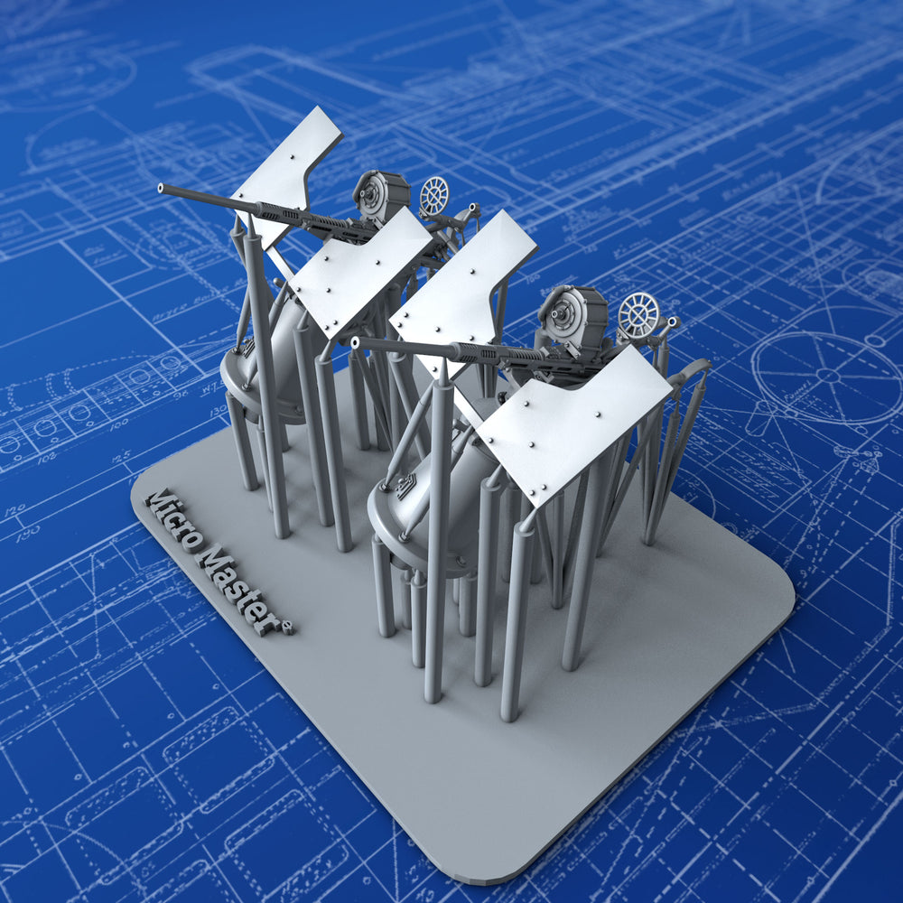 1/144 US Navy 20mm Oerlikon MKI Guns (0º Elevation with Notch Variation) x2