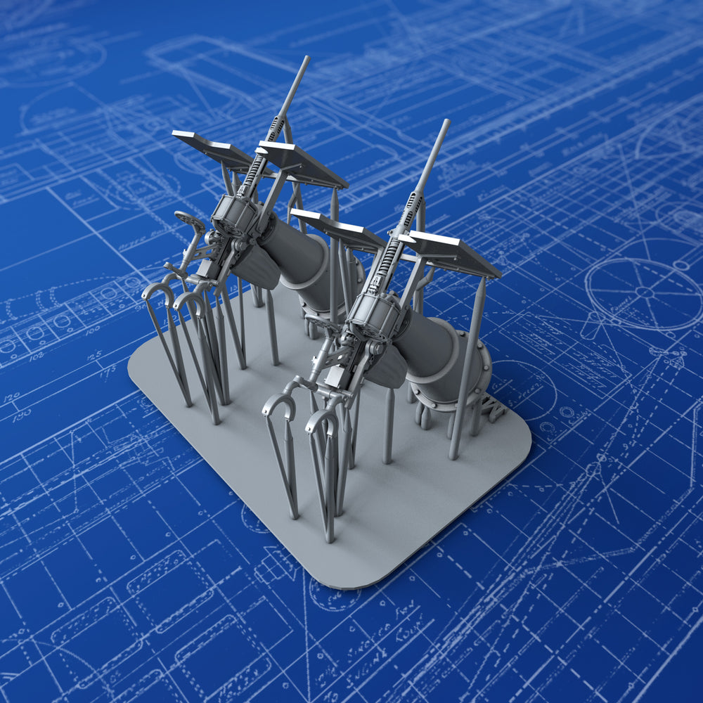 1/144 Royal Navy 20mm Oerlikon MKIIA Guns (0º Elevation) x2