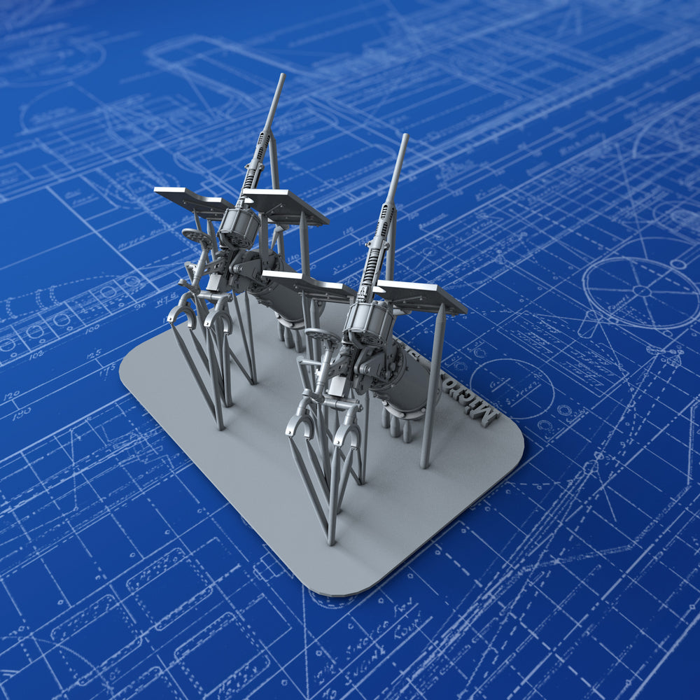 1/144 Royal Navy 20mm Oerlikon MKVIIA Guns (0º Elevation) x2