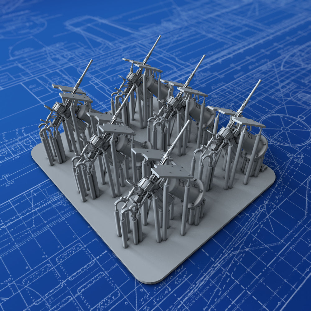 1/192 Royal Navy 20mm Oerlikon MKI Guns (0º Elevation) x6